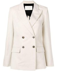 Cedric Charlier - Double Breasted Blazer - Lyst