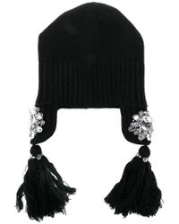 Dorothee Schumacher - Knitted Crystal Detail Hat - Lyst