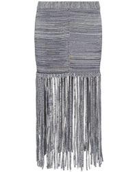 Chloé - Fringe Detail Skirt - Lyst