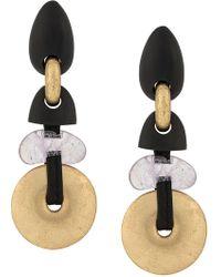 Monies - Aztec Inspired Drop Earrings - Lyst