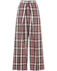Astraet - Tartan Wide Leg Trousers - Lyst