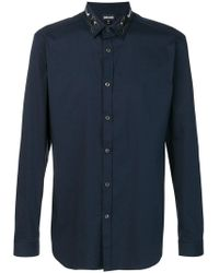 Just Cavalli - Embroidered Collar Shirt - Lyst