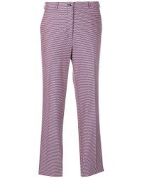 Etro - Printed Trousers - Lyst