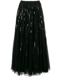 P.A.R.O.S.H. - Sequin Embroidered Midi Skirt - Lyst