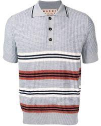 Marni - Striped Polo Shirt - Lyst
