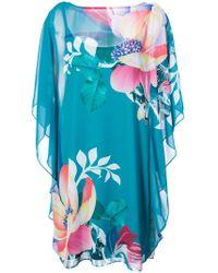 Trina Turk - Floral Mini Shift Dress - Lyst