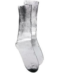MM6 by Maison Martin Margiela - Metallic-effect Fitted Socks - Lyst