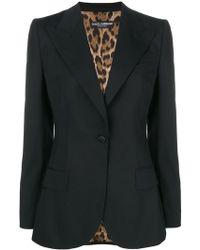 Dolce & Gabbana - Fitted Longline Blazer - Lyst