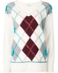 low priced 7f6eb 1f48b Closed - Argyle Knit Sweater - Lyst