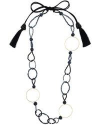 Night Market - Bead And Ring Long Necklace - Lyst