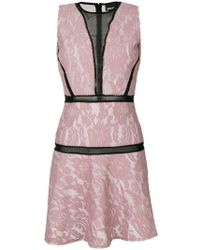 Just Cavalli - Sheer Panelled Skater Dress - Lyst