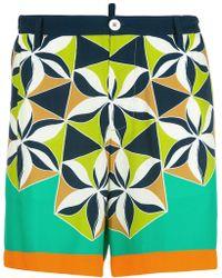 DSquared² | Retro Printed Shorts | Lyst