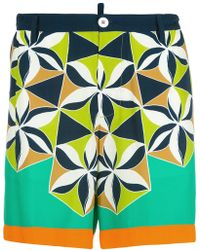 DSquared² - Retro Printed Shorts - Lyst