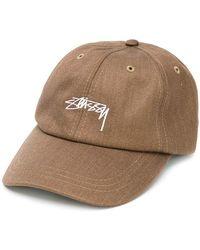 Stussy - Cappello da baseball con logo ricamato - Lyst 0dd4983b7535