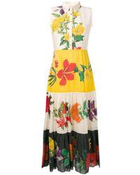 Carolina K - Floral Print Maxi Shirt Dress - Lyst