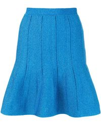 Alberta Ferretti - Flared Short Skirt - Lyst