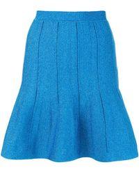 Alberta Ferretti - Flared Short Skirt - Lyst
