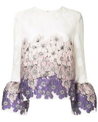 Huishan Zhang - Floral Bell Sleeve Blouse - Lyst