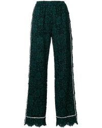 Dolce & Gabbana - High Waist Lace Trousers With Contrast Piped Trim - Lyst