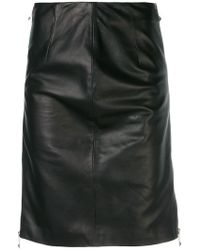 John Richmond - Fitted Midi Skirt - Lyst
