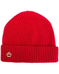 DSquared² - Logo Plaque Beanie - Lyst