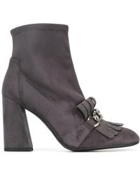 Stuart Weitzman - Ring Leader Suede Ankle Boots - Lyst