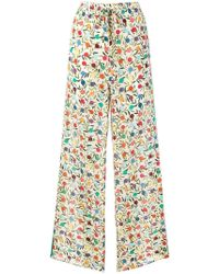 RED Valentino - Flared Printed Trousers - Lyst