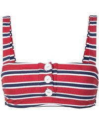Onia - Carolina Striped Bikini Top - Lyst