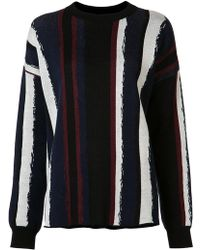 Baja East - Striped Round Neck Jumper - Lyst
