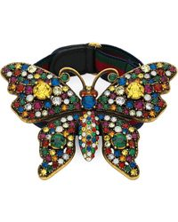 726b71228 Gucci Crystal-embellished Butterfly Palm Bracelet in Metallic - Lyst