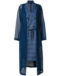 Toga Pulla - Checked Double Breasted Coat - Lyst