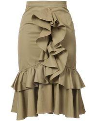 TOME - Ruffled Skirt - Lyst