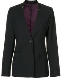 PS by Paul Smith - Floral Print Collar Blazer - Lyst