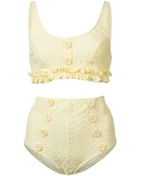 Lisa Marie Fernandez - Button-embellished Bikini Set - Lyst