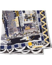 Prada - Pittoresque New York Printed Foulard - Lyst
