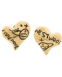Vivienne Westwood - Heart Earrings - Lyst