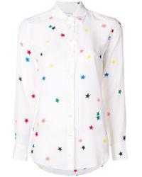 Equipment - Camisa con bordado de estrellas - Lyst