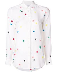 Equipment - Star Embroidered Shirt - Lyst
