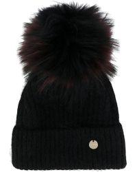 Yves Salomon - Removable Pom Pom Knit Hat - Lyst