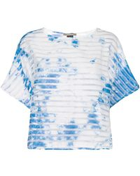 Suzusan - Transparent Border Printed T-shirt - Lyst