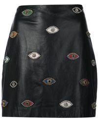Nicole Miller - Eye To Evil Eye Skirt - Lyst