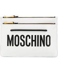 Moschino ロゴ クラッチバッグ - マルチカラー