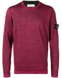 Stone Island - Logo Patched Sleeve Jumper - Lyst