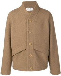 YMC - Single-breasted Fitted Coat - Lyst