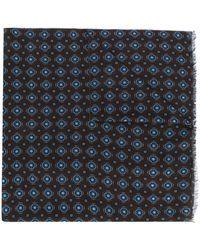 Altea - Floral Patterned Fine Knit Scarf - Lyst