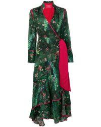 0b311f68ea5 Rebajado F.R.S For Restless Sleepers - Vestido estilo kimono cruzado  estampado - Lyst