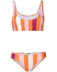 MSGM - Striped Bikini Two-piece - Lyst