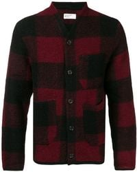 Universal Works - Check Buttoned Cardigan - Lyst