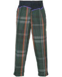 Kolor - Pantalon crop à carreaux - Lyst