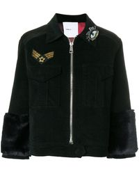 Isabelle Blanche - Appliqué Fitted Jacket - Lyst